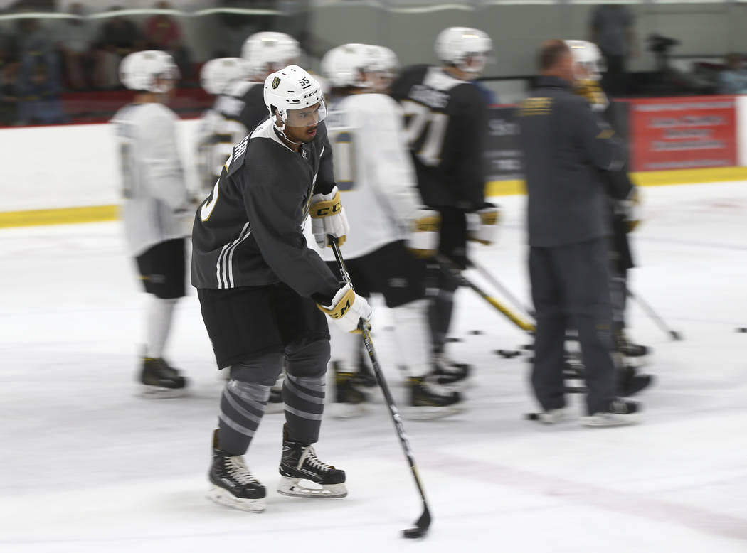 Vegas Golden Knights' Keegan Kolesar during the team's development camp at Las Vegas Ice Center on Wednesday, June 28, 2017. Chase Stevens Las Vegas Review-Journal @csstevensphoto