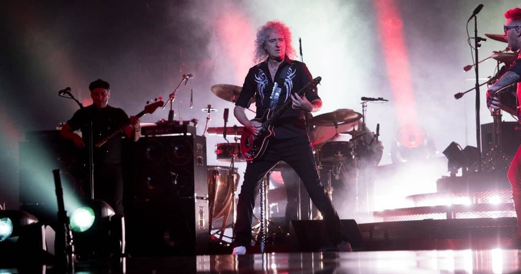 Queen performs at the T-Mobile Arena June 24.  (Tom Donoghue)