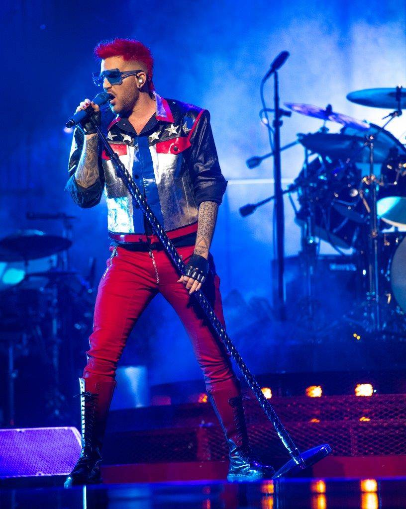 Adam Lambert performs at the T-Mobile Arena June 24.  (Tom Donoghue)