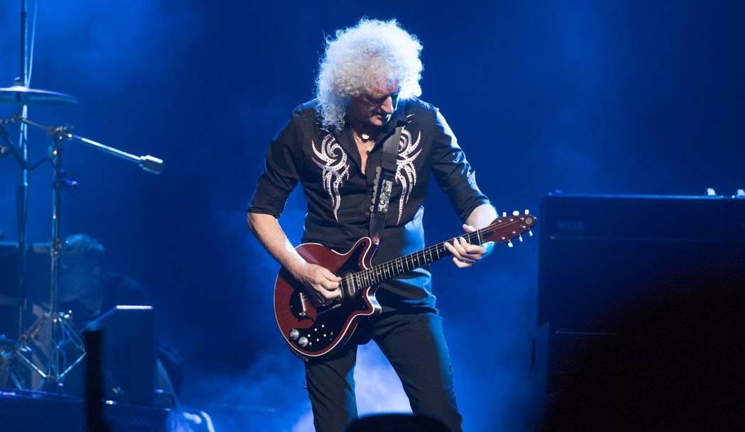 Queen guitarist Brian May performs June 24 in Las Vegas.  (Tom Donoghue)