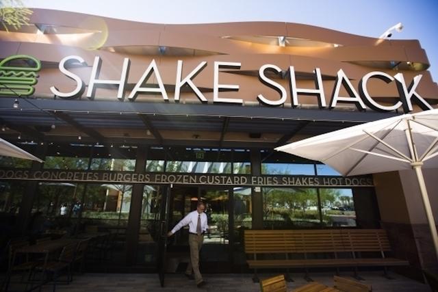 Shake Shack (Jeff Scheid/Las Vegas Review-Journal)