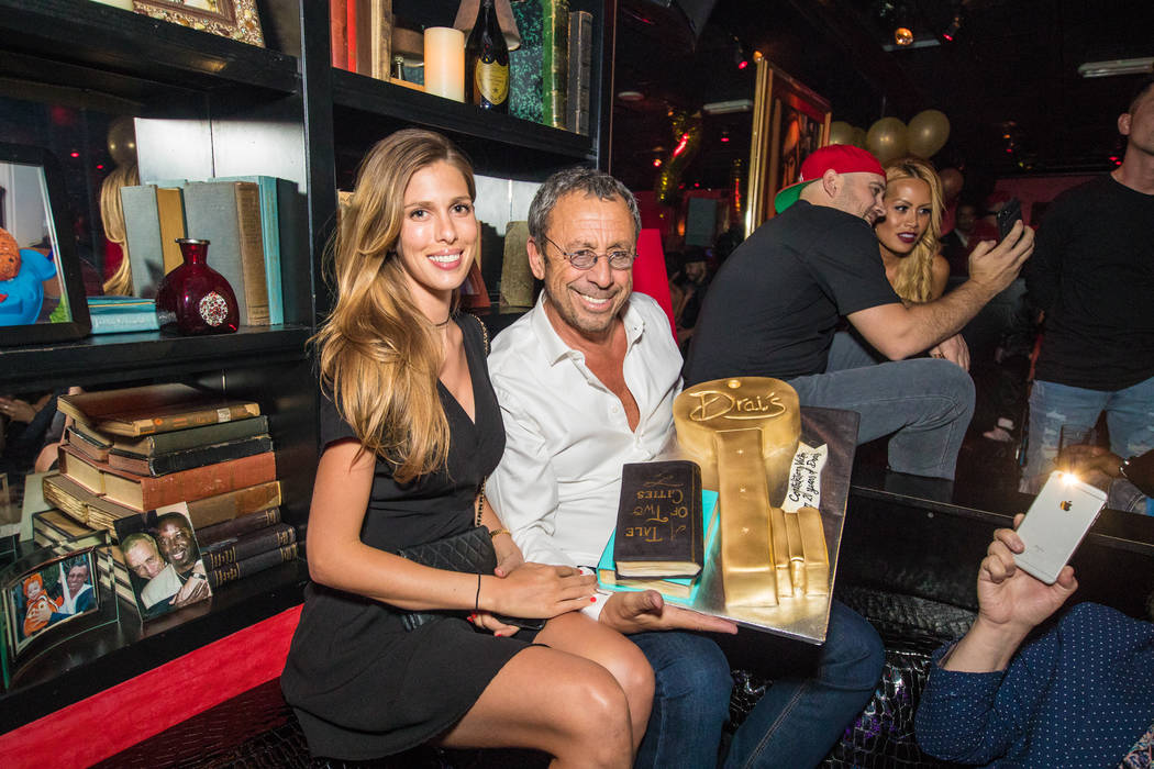 Victor Drai and his wife, Yolanda, celebrate the 20th anniversary of Drai's After Dark at The Cromwell on Sunday, June 25, 2017. (Tony Tran)