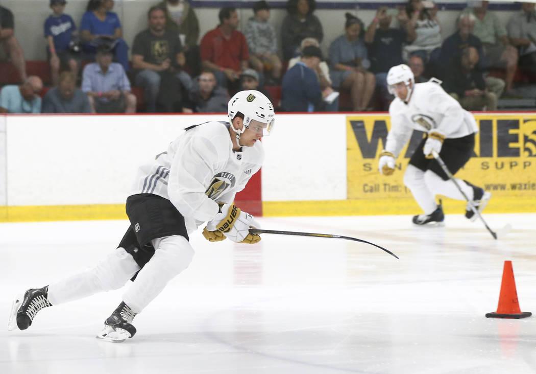 Vegas Golden Knights' Reid Duke during the team's development camp at Las Vegas Ice Center on Tuesday, June 27, 2017. Chase Stevens Las Vegas Review-Journal @csstevensphoto