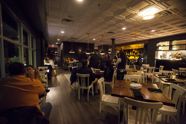 Dining areas at Standard & Pour, 11261 S. Eastern Ave. in Henderson on Friday, Dec. 9, 2016. (Miranda Alam/Las Vegas Review-Journal) @miranda_alam