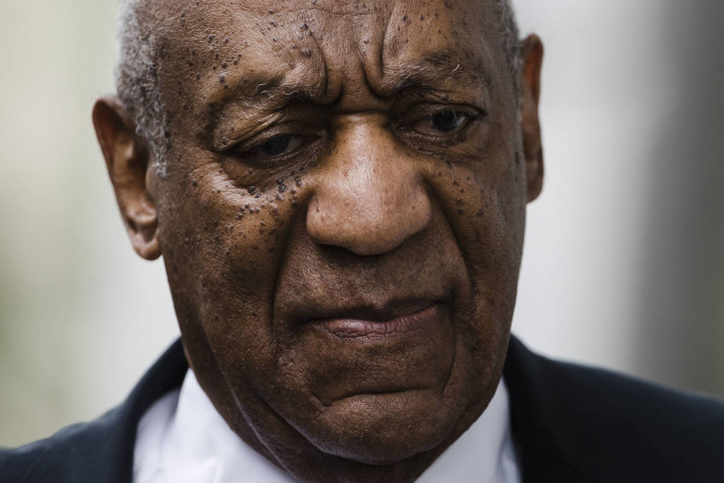 Bill Cosby arrives for his sexual assault trial at the Montgomery County Courthouse in Norristown, Pa., June 17, 2017. Cosby's next legal challenge shifts to California with a hearing scheduled Tu ...