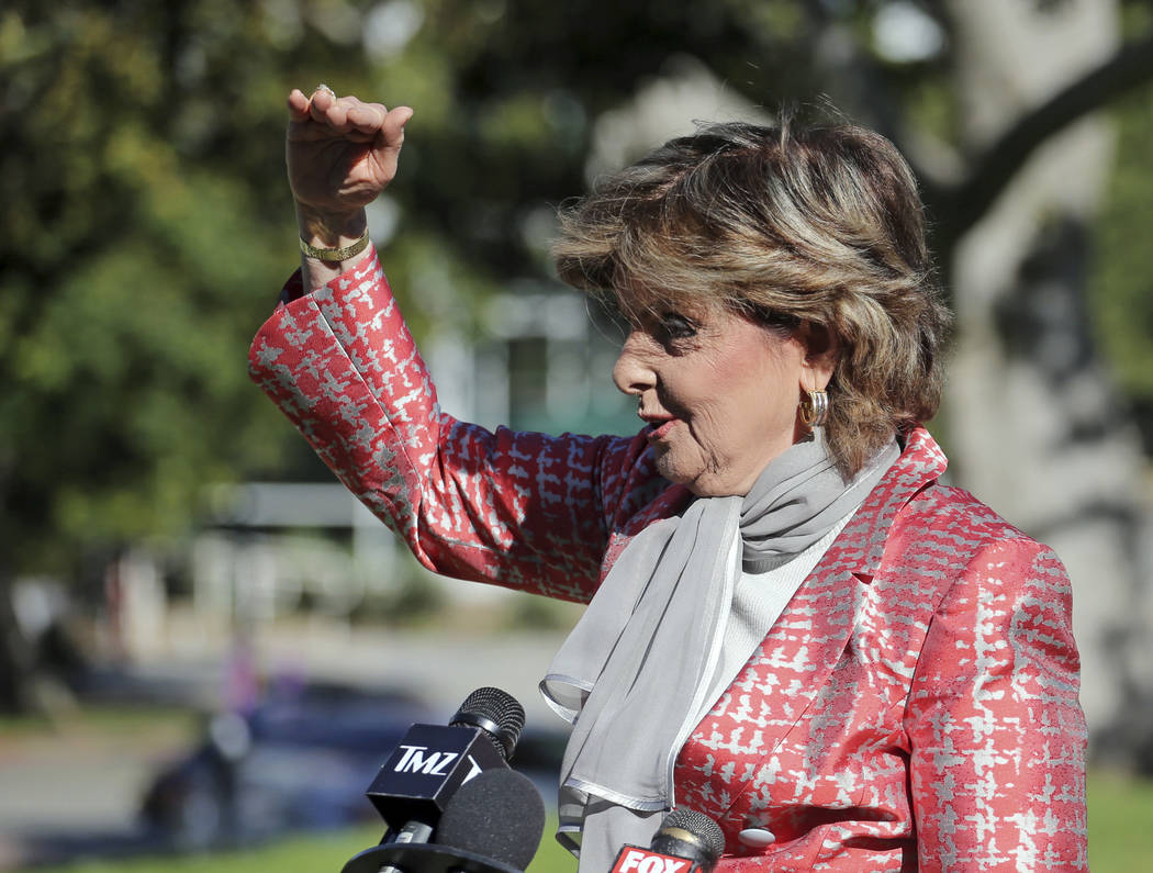 Gloria Allred, attorney for Judy Huth, who alleges entertainer Bill Cosby sexually assaulted her at the Playboy Mansion more than 40 years ago, describes the relative degree of proof needed in a c ...