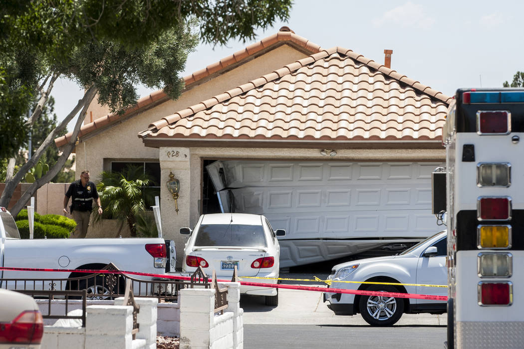 The scene of an officer-involved shooting that occured late Saturday night in central Las Vegas on Sunday, June 25, 2017. A man died in a shootout with officers.  Patrick Connolly Las Vegas Review ...