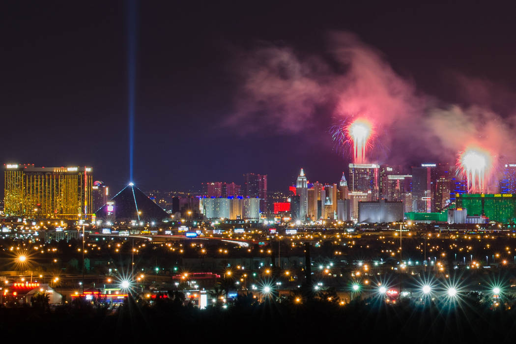 Las Vegas Strip fireworks. (Thinkstock)