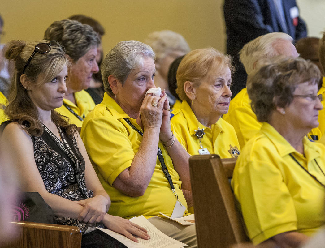 Caring volunteer police officer remembered at funeral   Las