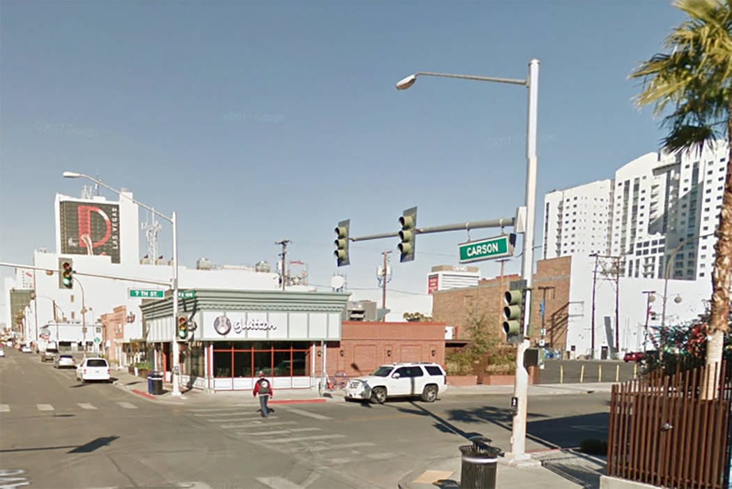 The former Glutton location is reopening in downtown Las Vegas as 7th & Carson. (Google Street View)