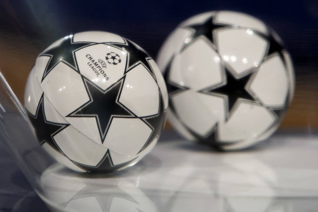 Balls containing the names of the soccer clubs ares pictured, prior the drawing of the games for the Champions League 2017/18 Second qualifying round, at the UEFA headquarters in Nyon, Switzerland ...