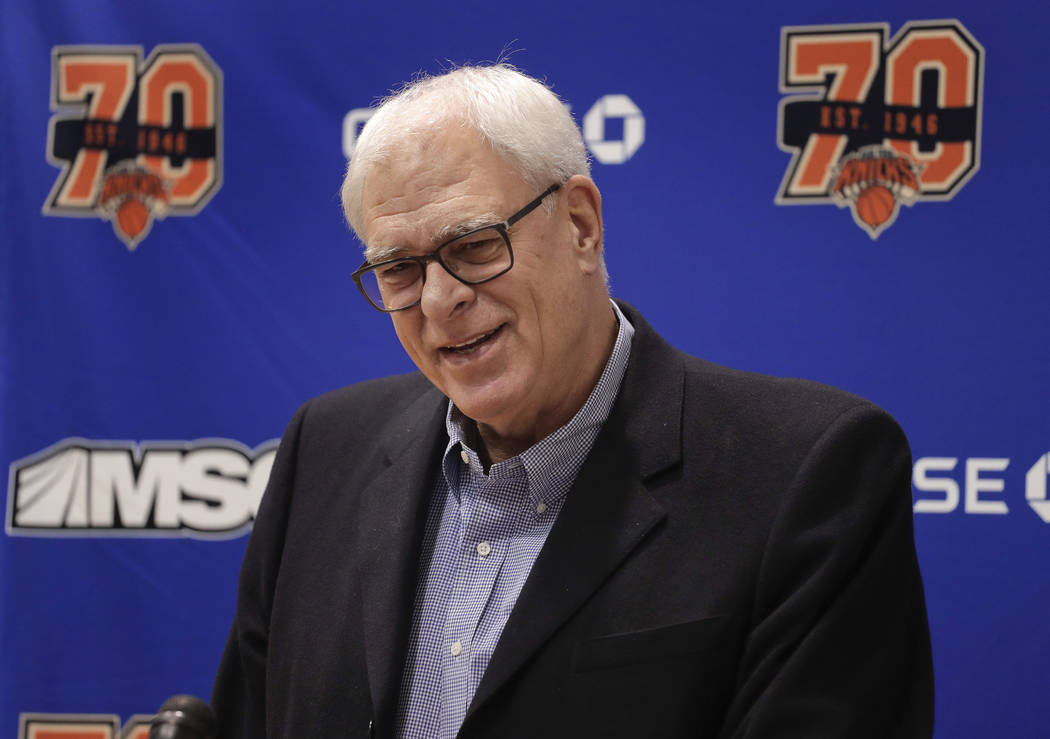 Phil Jackson's three-year run with the New York Knicks came to an end Wednesday when team owner James Dolan decided to cut ties with the team president. (Julie Jacobson/AP)