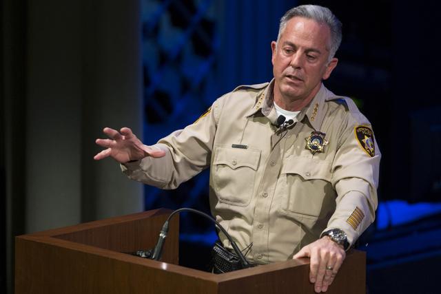 Clark County Sheriff Joe Lombardo speaks during the State of the Department address at the Smith Center, Wednesday, Feb. 22, 2017, in Las Vegas. (Erik Verduzco/Las Vegas Review-Journal) @Erik_Verduzco