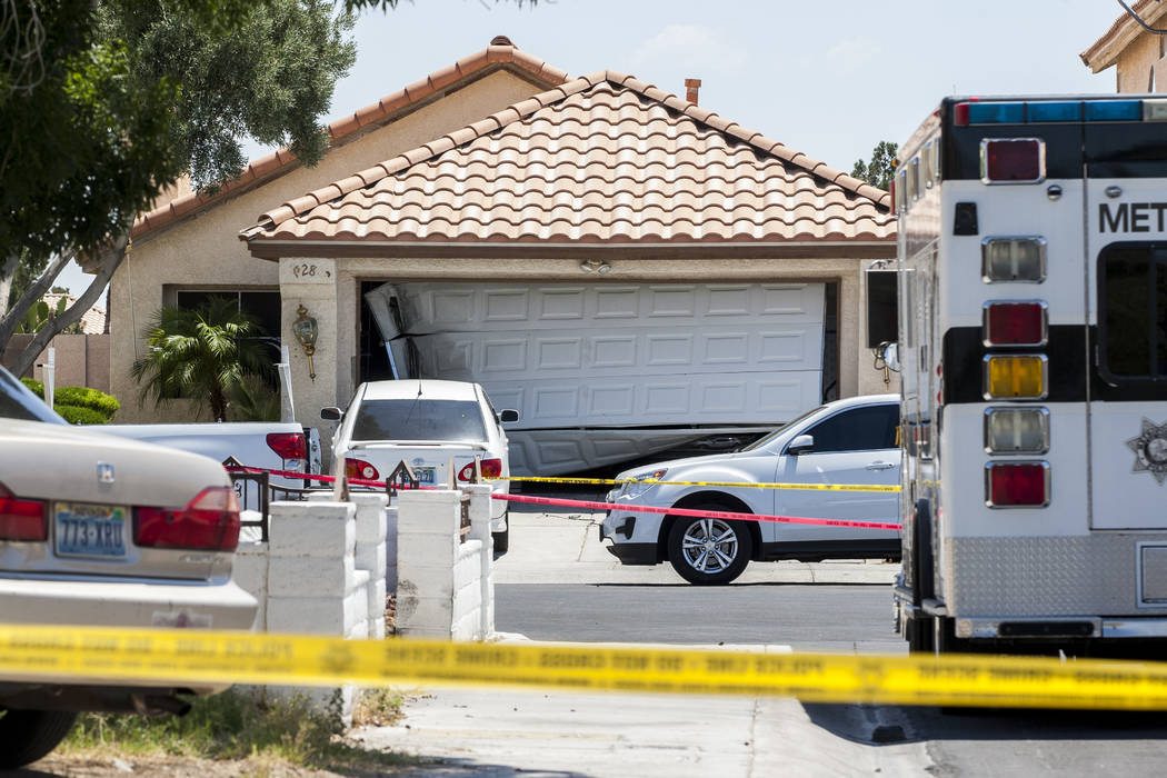 The scene of an officer-involved shooting that occurred in central Las Vegas on Saturday, June 24, 2017. A man died in a shootout with officers. (Patrick Connolly/Las Vegas Review-Journal) @PConnPie