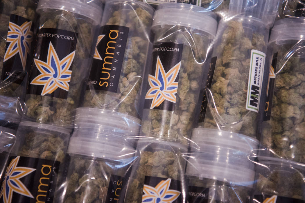 A bin of product waits to be restocked at Euphoria Wellness on Thursday, June 29, 2017, in Las Vegas. Morgan Lieberman Las Vegas Review-Journal