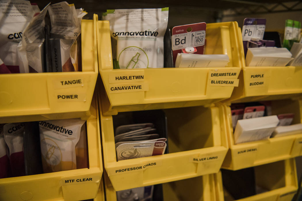 The inventory cabinet at Euphoria Wellness on Thursday, June 29, 2017, in Las Vegas. Morgan Lieberman Las Vegas Review-Journal