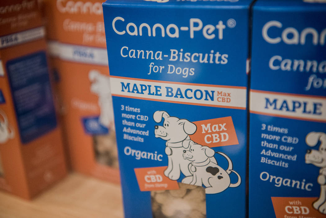 CBD dog biscuits on display at Euphoria Wellness on Thursday, June 29, 2017, in Las Vegas. Morgan Lieberman Las Vegas Review-Journal