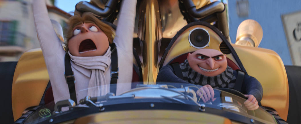 """(L to R) Dru (STEVE CARELL) and Gru (STEVE CARELL) in """"Despicable Me 3.""""  Illumination, who brought moviegoers """"Despicable Me"""" and the biggest animated hits of  ..."""