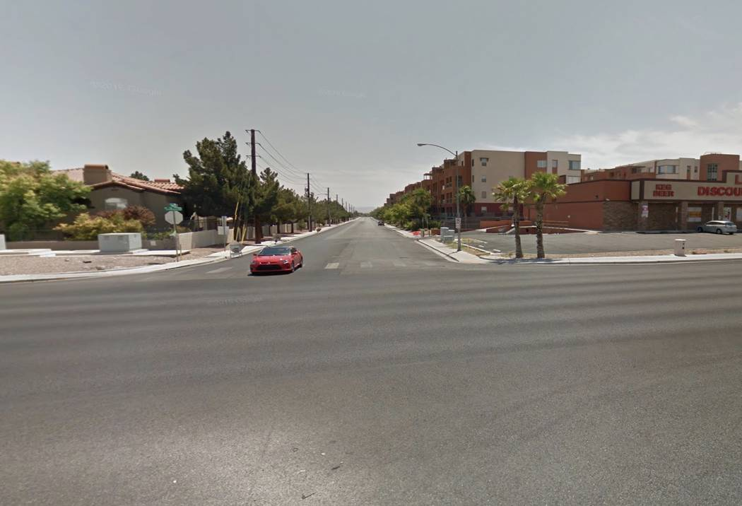 A crash occurred at the intersection of Las Vegas Boulevard South and West Agate Avenue, near Serene Avenue.