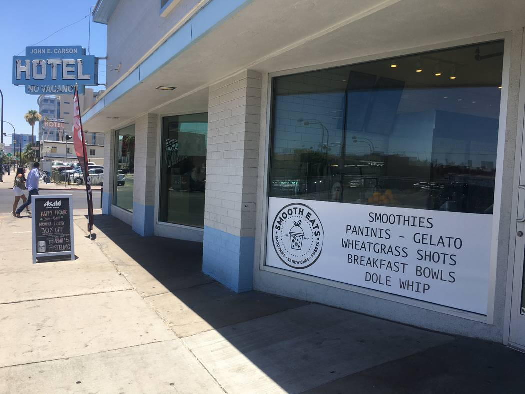 Smooth Eats (124 S 6th St #160) offers smoothies, avocado toasts and panini sandwiches. Janna Karel Las Vegas Review-Journal