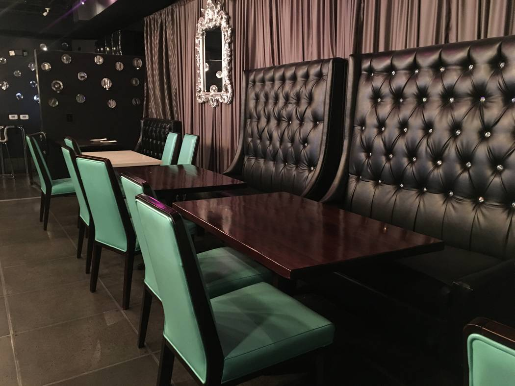 """Mingo Collaso, owner of Mundo at Mingo, decorated this restaurant to resemble a """"vampire's apartment in New York City."""" (Katelyn Umholtz/Las Vegas Review-Journal) @kumh0ltz"""