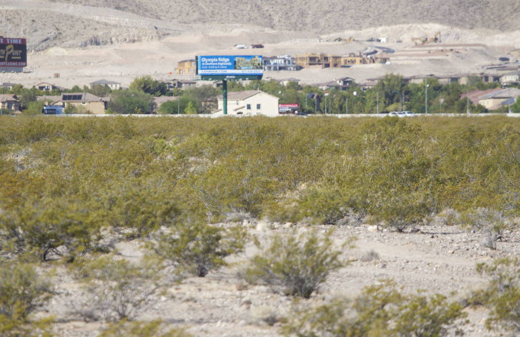 A parcel of land on the west side of Las Vegas Boulevard between Siddall Avenue and Chartan Avenue on Friday, June 30, 2017. An investor group from the Bay Area has laid out plans for a 754-unit a ...