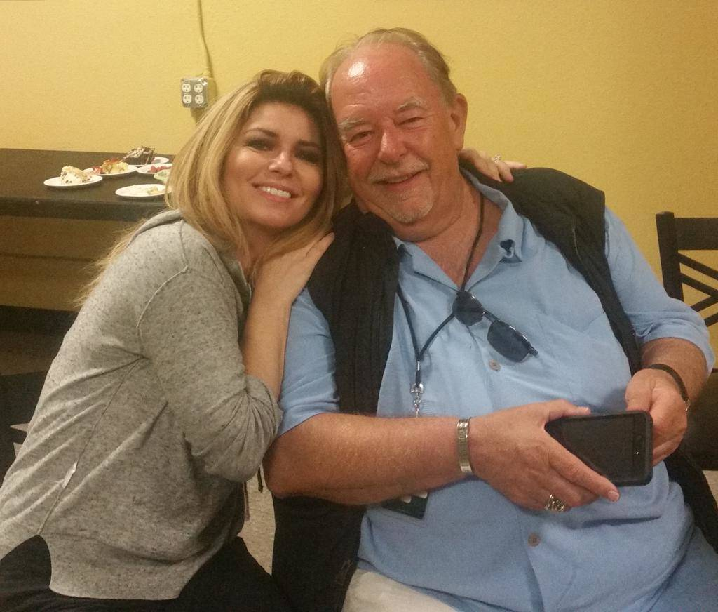 "Shania Twain and Robin Leach. Twain opened her new exhibit ""Rock This Country"" at the Country Music Hall of Fame in Nashville last night. Courtesy"
