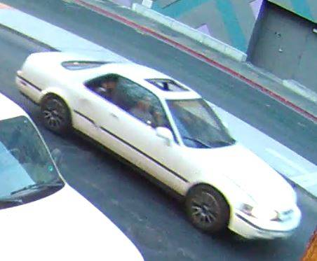Photo of the vehicle that police say was involved in a shooting near Fremont Street (Las Vegas Metropolitan Police Department)