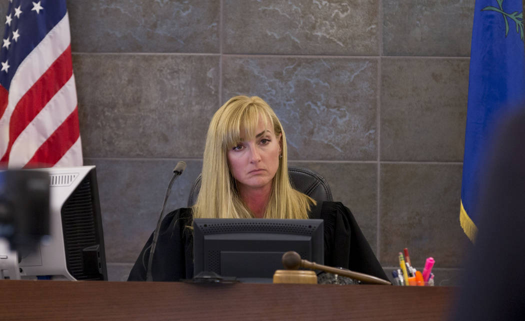 Judge Stefany A. Miley during Thomas Randolph's trial at the Regional Justice Center in Las Vegas, Thursday, June 29, 2017. Elizabeth Brumley Las Vegas Review-Journal