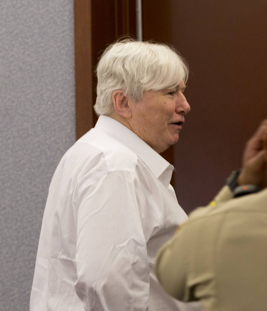 Thomas Randolph exits for recess during his trial at the Regional Justice Center in Las Vegas, Thursday, June 29, 2017. Elizabeth Brumley Las Vegas Review-Journal