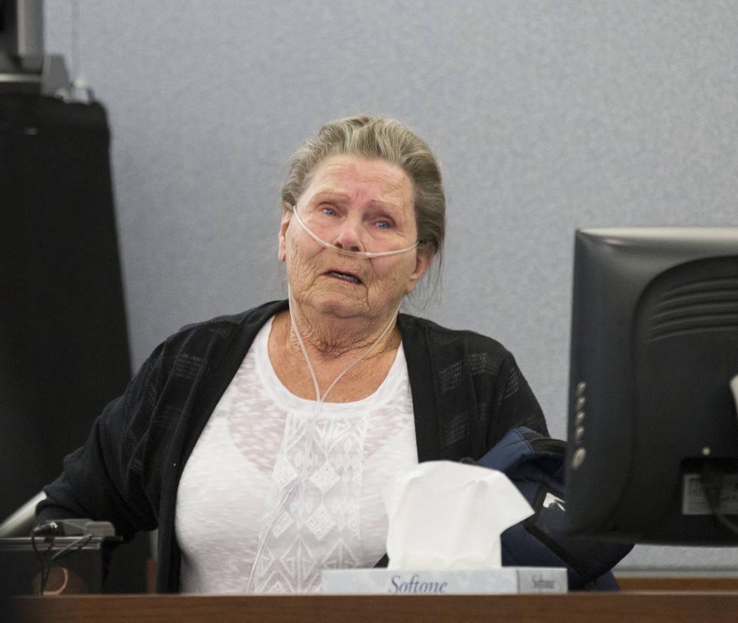 Dorothy Arlene Randolph, mother of defendant Thomas Randolph, testifies during Randolph's trial at the Regional Justice Center in Las Vegas, Thursday, June 29, 2017. Elizabeth Brumley Las Vegas Re ...