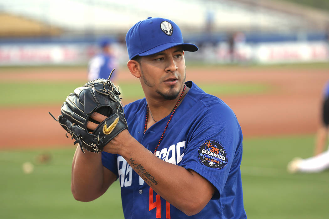 Wilfredo Boscan gave up 12 hits and six runs in a 7-2 loss to Tacoma on Wednesday. (Rachel Aston Las Vegas Review-Journal) @rookie__rae