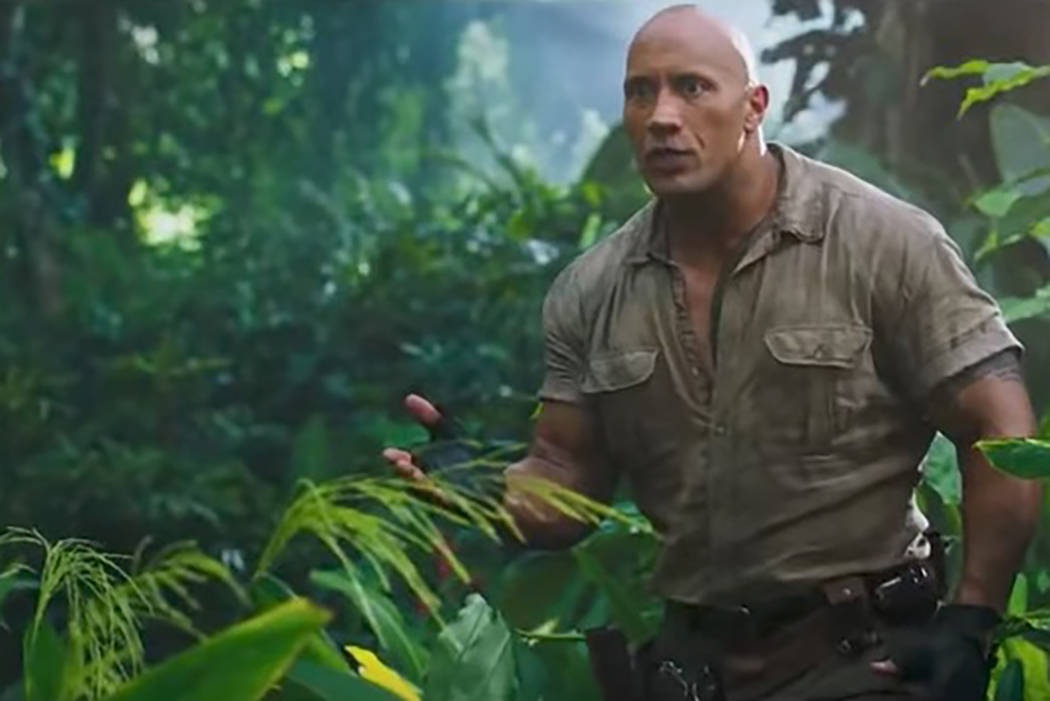 "The first trailer for the upcoming sequel ""Jumanji: Welcome to the Jungle"" debuted on Thursday, showing stars Dwayne Johnson and Kevin Hart in action. (Screengrab/Youtube)"