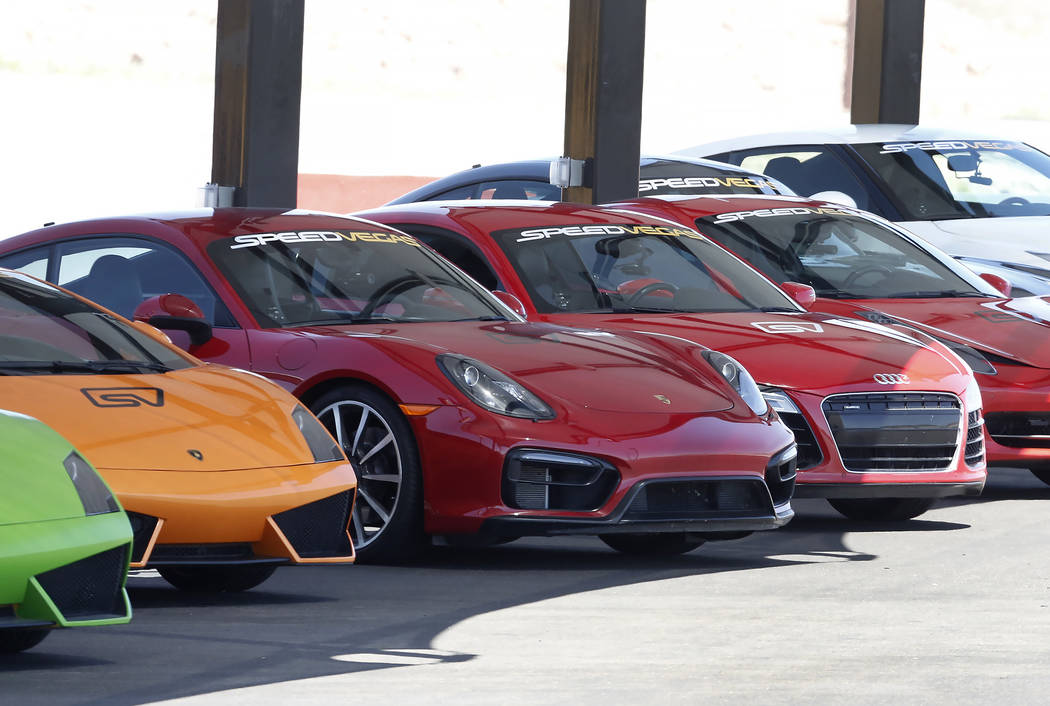 Exotic cars on desplay at SpeedVegas in Henderson on Thursday, June 29, 2017. Bizuayehu Tesfaye/Las Vegas Review-Journal @bizutesfaye