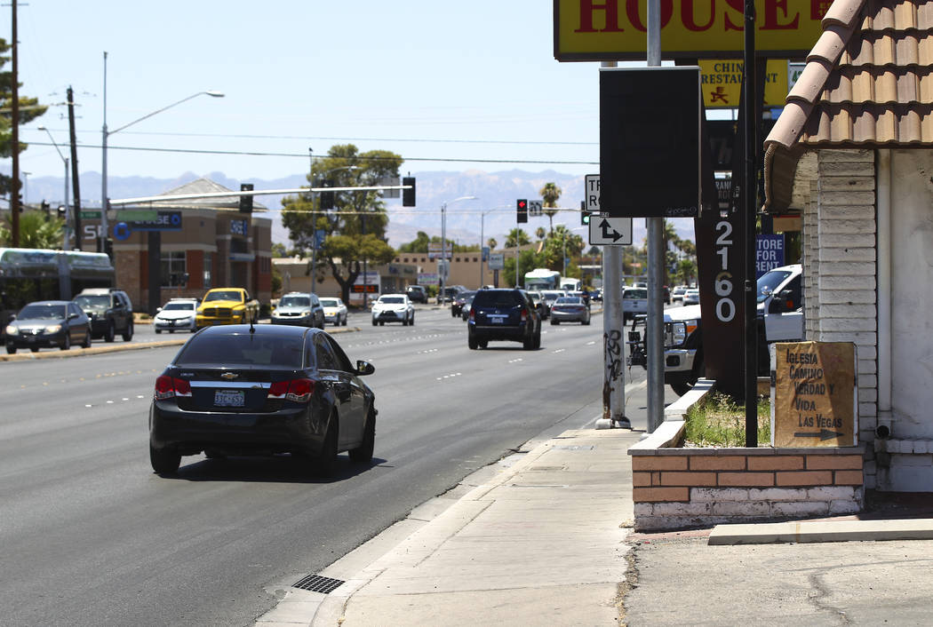 The area where Joseph G. Martinez, 57, was arrested on one count of unlawful sexual penetration of a dead body this past Sunday on Charleston Boulevard near Rancho Drive in Las Vegas on Thursday,  ...
