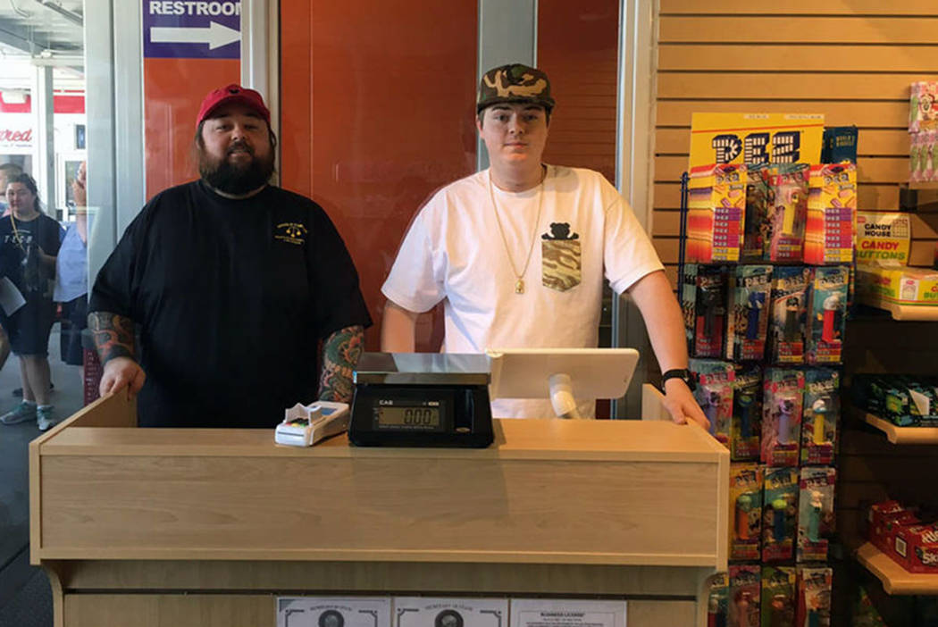 "Austin ""Chumlee"" Russell and his brother Sage are co-owners of Chumlee's Candy on the Blvd. at Pawn Plaza in downtown Las Vegas. (PR Plus)"