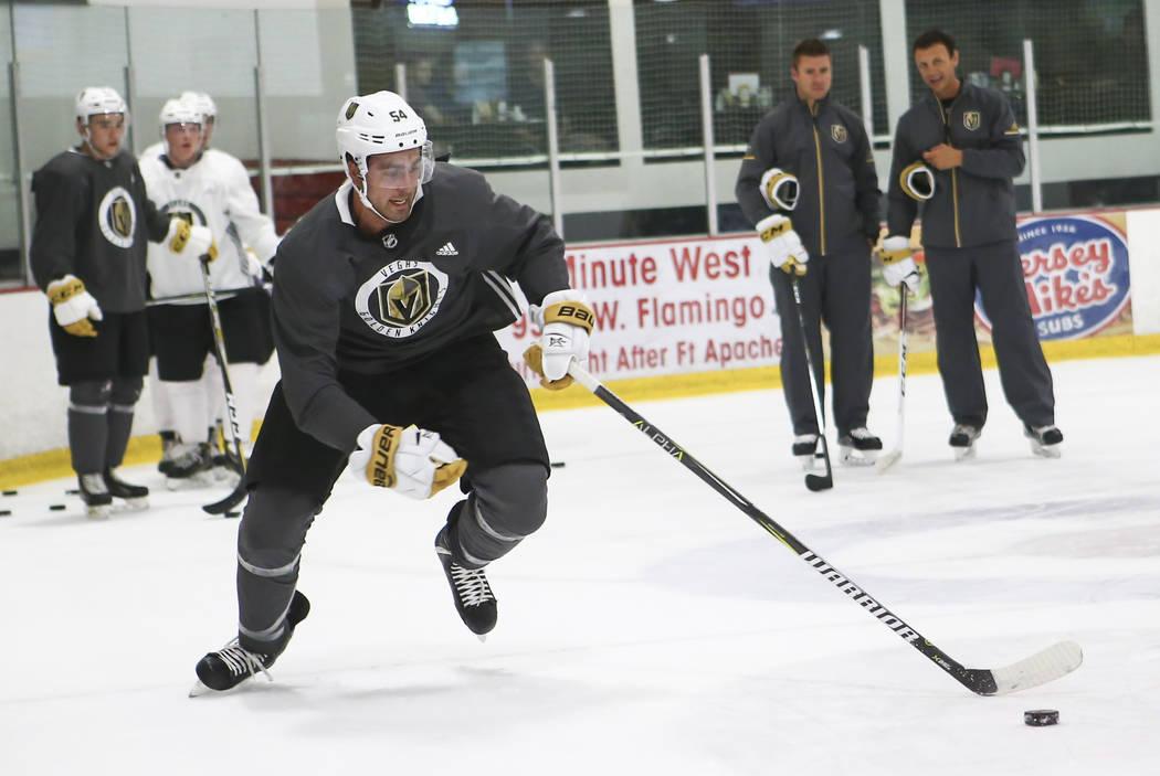 Vegas Golden Knights' Alex Tuch during the team's development camp at Las Vegas Ice Center on Wednesday, June 28, 2017. Chase Stevens Las Vegas Review-Journal @csstevensphoto