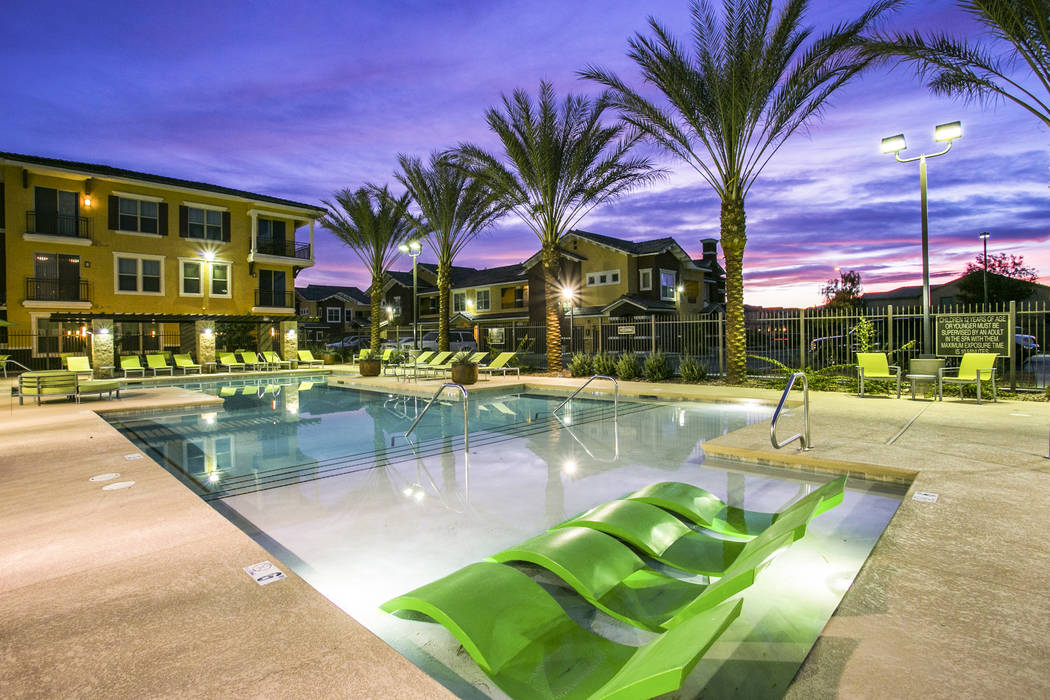 The Volare apartment complex on Dean Martin Drive near Cactus Avenue in Las Vegas has been sold for $63 million. JLL
