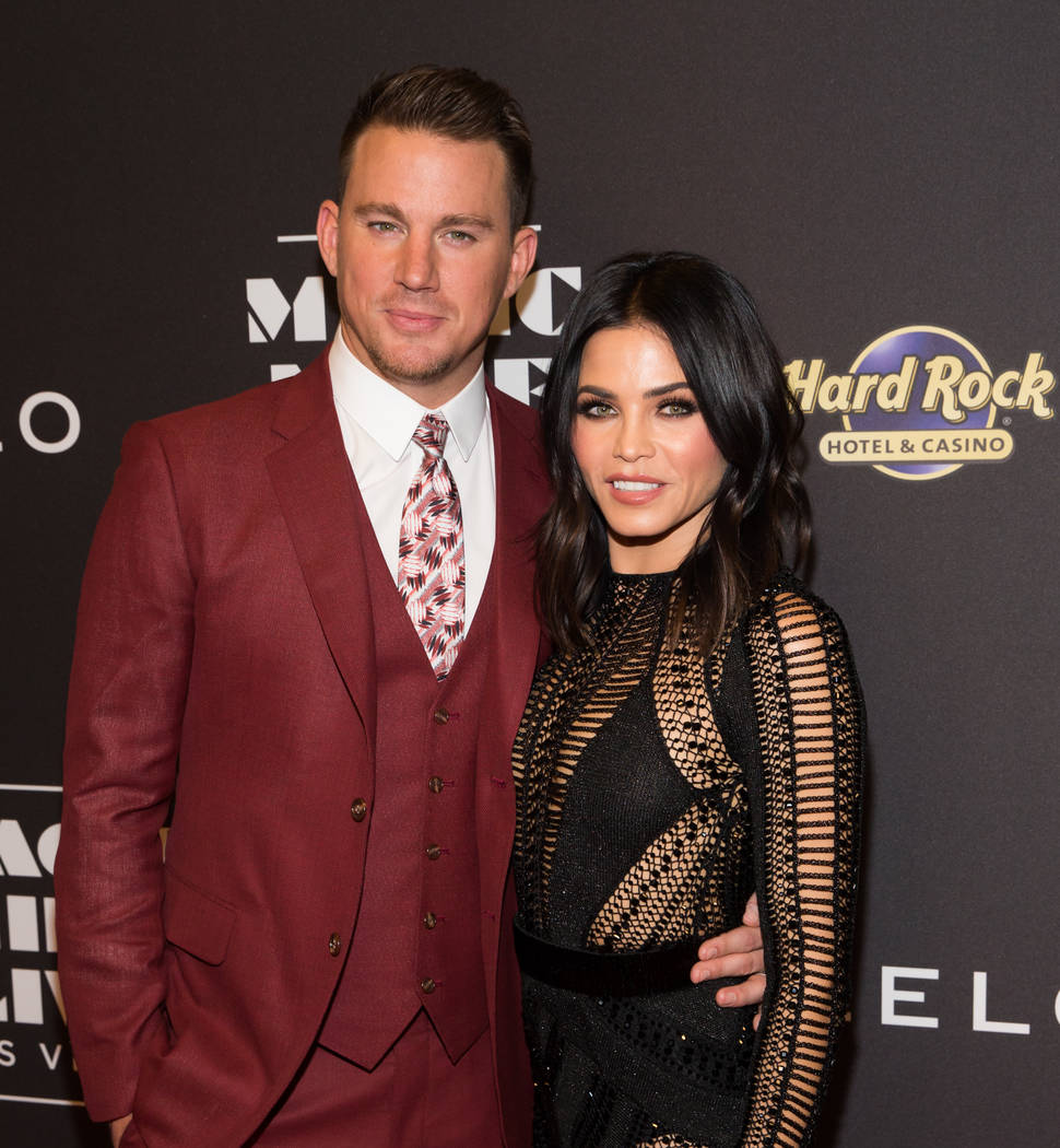 "Channing Tatum and Jenna Dewan-Tatum attend the grand opening of his ""Magic Mike Live"" at The Hard Rock Hotel on Friday, April 21, 2017, in Las Vegas. (Erik Kabik)"
