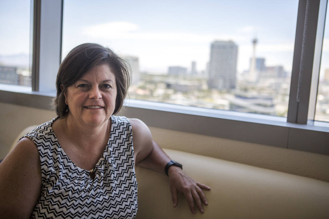 Las Vegas City Manager Betsy Fretwell in her office at Las Vegas City Hall on Wednesday, May 24, 2017. Fretwell will be taking a job with Switch Communications in July. (Patrick Connolly/Las Vegas ...