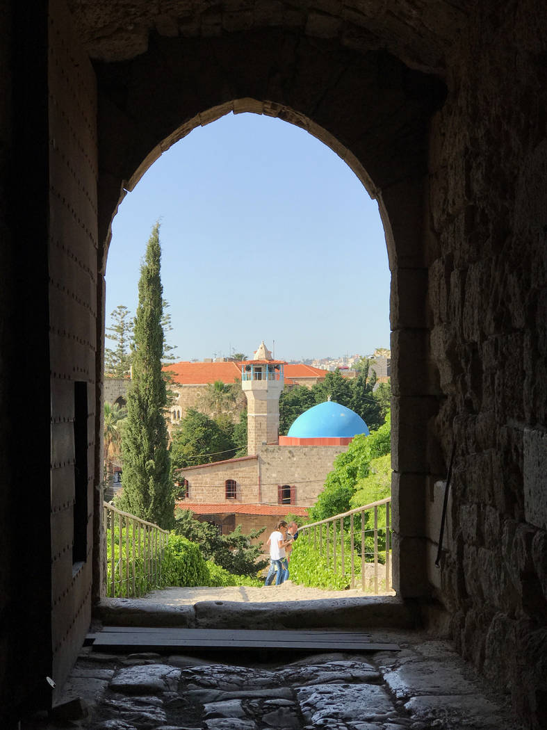 The view of Byblos, Lebanon, one of the oldest continuously inhabited cities in the world, from inside Byblos Castle. (Harrison Keely)