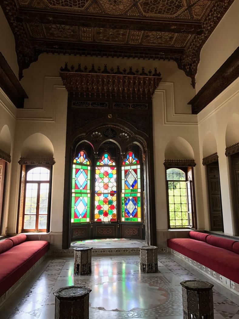 A room inside Beiteddine Palace, Lebanon. (Harrison Keely)