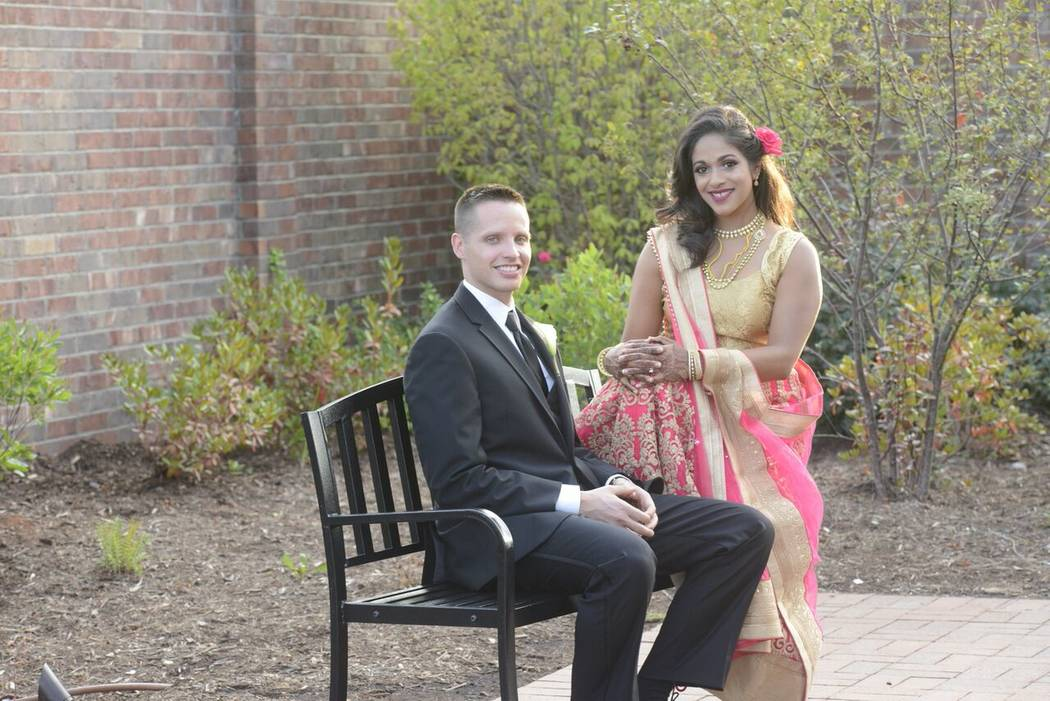 Michael Mohan and Sunethra Muralidhara pose for a photo. The couple, who moved to Las Vegas in 2014, spent only 26 months paying off Muralidhara's $200,000 debt while living in the valley. (Suneth ...