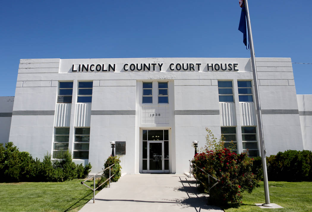 The Lincoln County courthouse in Pioche on June 13, 2017. (Elizabeth Brumley/The Las Vegas Review-Journal)