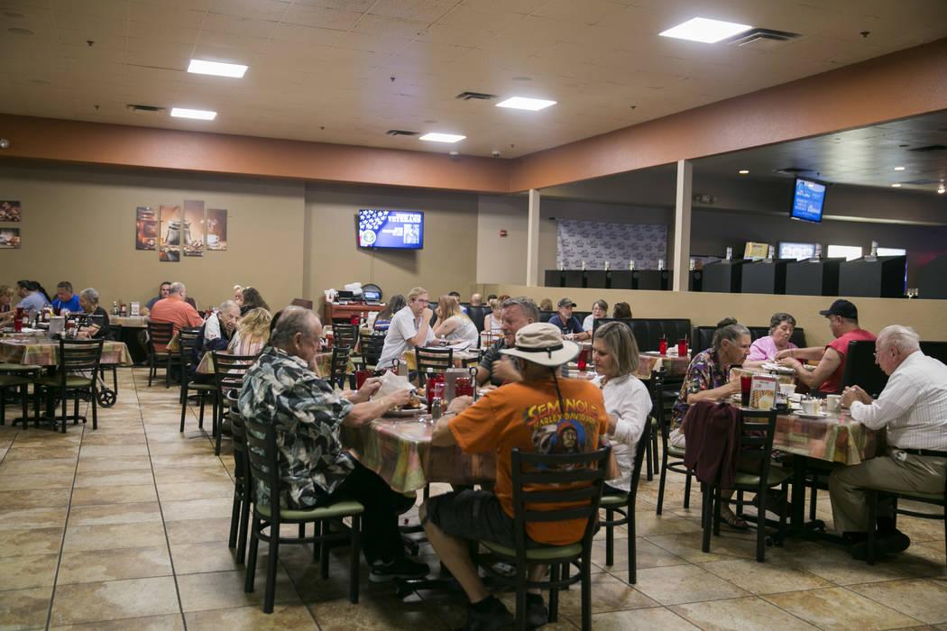 People dine at Club Cafe at the Club Fortune Casino in Henderson, Wednesday, June 14, 2017. Gabriella Angotti-Jones Las Vegas Review-Journal @gabriellaangojo