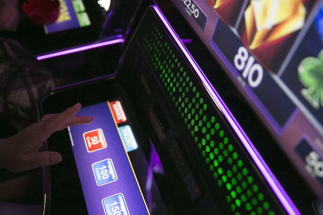 Pamela Gordon, visiting from Ohio, plays Lock it Link at the Club Fortune Casino in Henderson, Wednesday, June 14, 2017.  Gabriella Angotti-Jones Las Vegas Review-Journal @gabriellaangojo