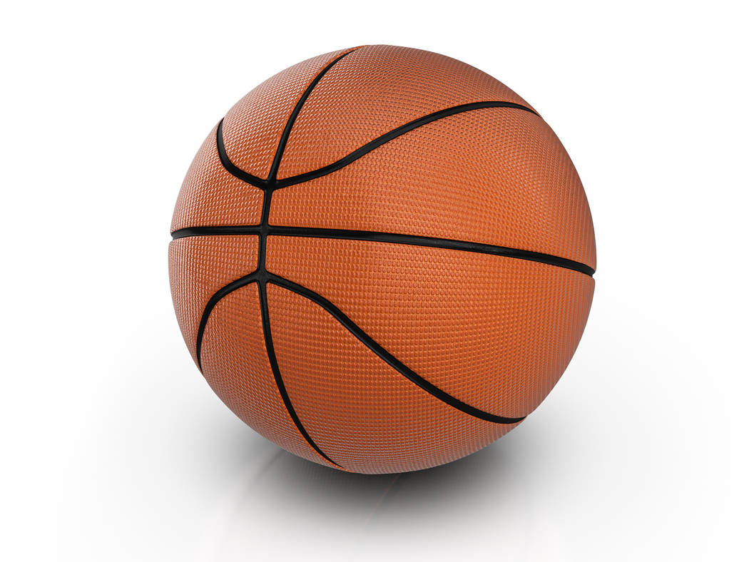 Basketball ball on a white background. 3D illustration.