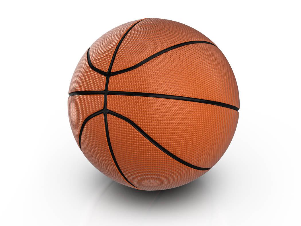 Basketball ball on a white background. 3D illustration.