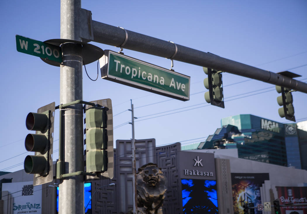 Tropicana Avenue sign on Monday, June 26, 2017.  Patrick Connolly Las Vegas Review-Journal @PConnPie