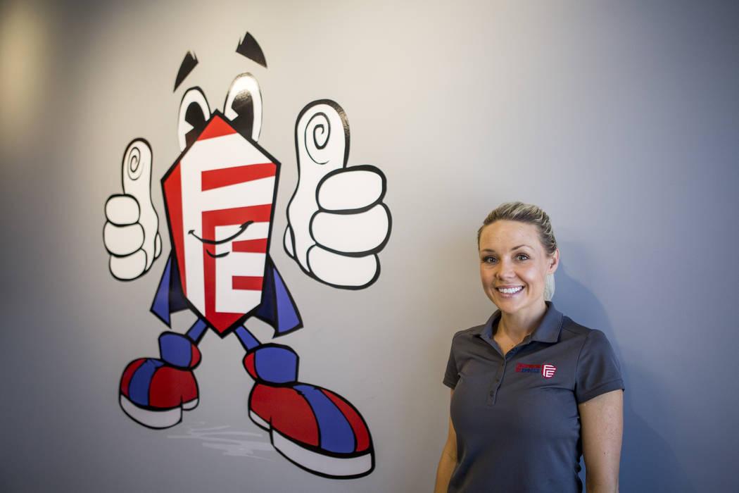Monica Pappas, owner of Fingerprint Express, at Fingerprint Express in southwest Las Vegas on Monday, June 26, 2017.  Patrick Connolly Las Vegas Review-Journal @PConnPie